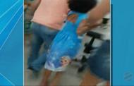 Criança se desespera ao ver a mãe atingida por disparos em UPA de Cuiabá