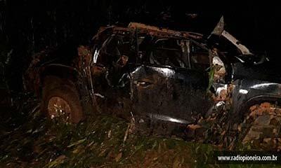 Homem perde controle e capota caminhonete na BR-364 em Campo Novo