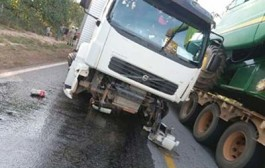 Acidente envolvendo caminhão deixa um morto e outra gravemente ferida em Mato Grosso