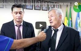 PORTO ESTRELA: prefeito Pelachim presta esclarecimentos durante sessão do Poder Legislativo
