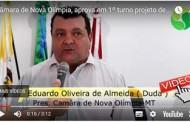 Câmara de Nova Olímpia, aprovado em 1º turno projeto de anistia de juros e multas