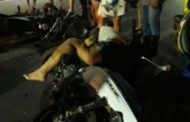 Moto na contramão provoca acidente em VG; mulher tem fratura exposta