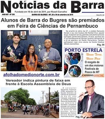 Pagina-01-Edição-255-29-set-2018---Noticias-da-Barra