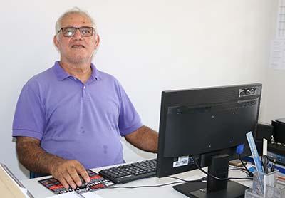 Diretor da escola, professor José da Rocha Filho