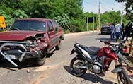 Cuiabá:Acidente entre F100 e Honda XRE deixa motociclista com fraturas