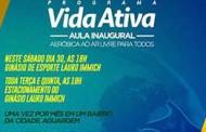 """Programa """"Vida Ativa"""" será lançado neste sábado em Nova Mutum"""