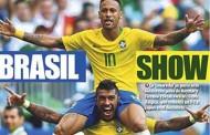 Com Neymar como destaque, jornais da Europa exaltam vitória da Seleção