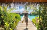 Juliana Paes abre o álbum de viagem para as Maldivas