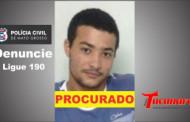 PROCURADO: Delegado divulga foto de Marcelo Sales acusado de matar sua ex mulher e esfaquear namorado