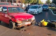 Motorista passal mal e se envolve em colisão em Sorriso; dois feridos