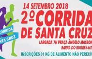 Estão abertas as inscrições para a 2ª Corrida de Santa Cruz de Barra do Bugres