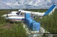 Interceptado com 500 kg de cocaína avião sem plano de voo faz pouso forçado em Nova Fernandópolis