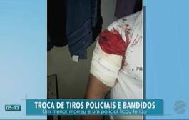 PM é baleado e adolescente que estava com moto roubada morre em tiroteio com policiais em Cuiabá