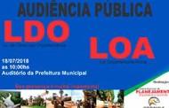 Prefeitura convida população para audiência da LDO e LOA