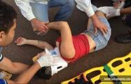 Motociclista fica ferida após colidir com carro na Vila Alta