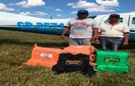 Polícia Civil apreende 340 kg de cocaína em aeronave que fez pouso forçado em Pontes e Lacerda