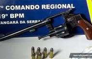 Tangará: homem é preso com arma de fogo na entrada da cidade