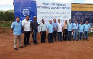 Presidente da Câmara de Cáceres luta pelo término do asfaltamento do Distrito da Vila Aparecida