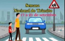Começa a Semana Nacional de Trânsito