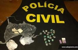 Polícia Civil prende jovem com porções de cocaína e LSD