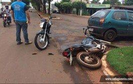 Tangará da Serra:Carro e moto colidem em cruzamento da Avenida Ismael José do Nascimento