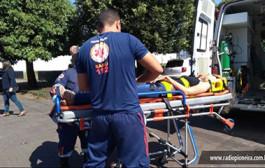 Tangará: condutora fica ferida em colisão de carro e moto