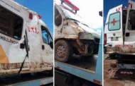 Motorista bate ambulância em barranco na BR-163, em MT