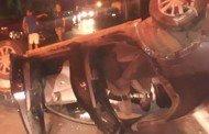Cuiabá: Mulher e criança ficam feridas em capotamento após motorista embriagado furar preferencial