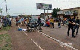 Rondonópolis:Idoso morre e grávida fica ferida em acidente de moto em MT